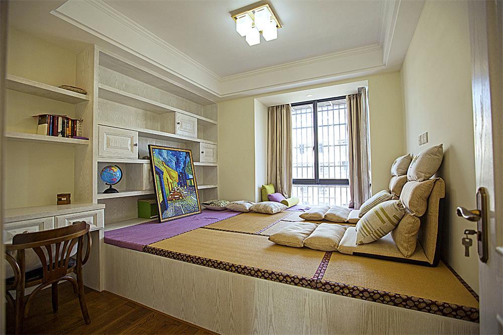 120平米臥室榻榻米床裝修案例圖