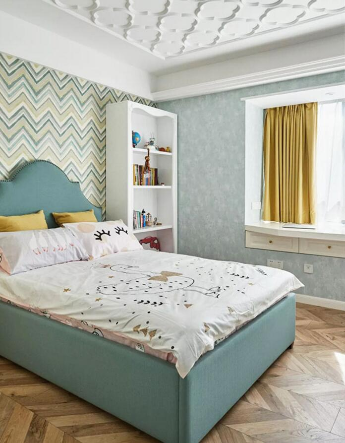 130平方家居臥室吊頂造型裝修設計實景圖