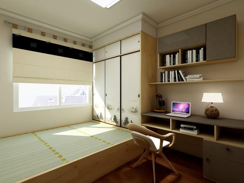 134平米三居室家庭書房榻榻米裝修效果圖