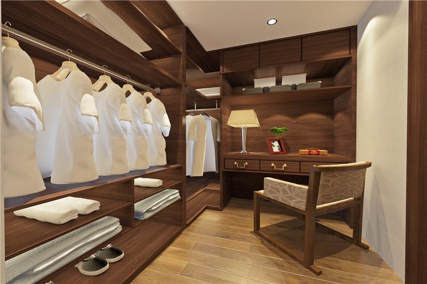 136平中式風格室內衣帽間設計圖片