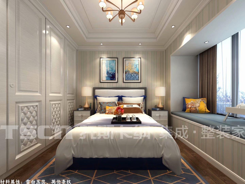 140平米簡約歐式風格三居室臥室飄窗設計效果圖