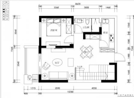 150平方米復式樓戶型圖