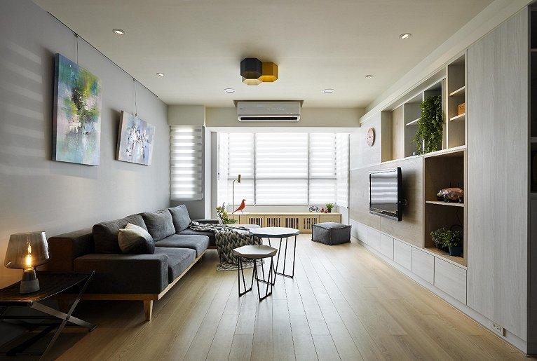 152平米四室兩廳創意電視墻裝修設計欣賞