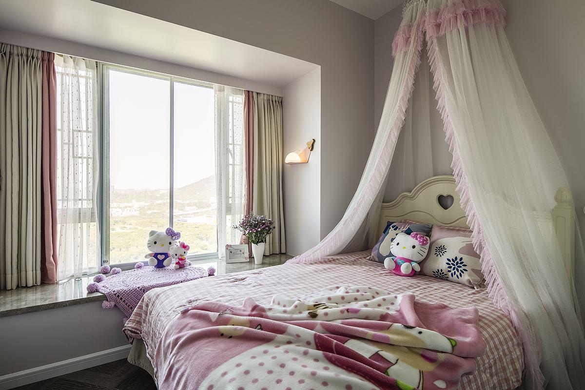 152平米四室兩廳臥室床幔裝修圖片