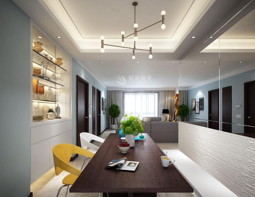 160平米現代簡約風格四房餐廳裝修效果圖