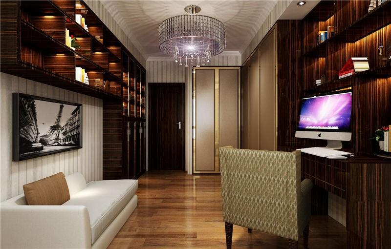 166平米現代簡約風格三居書房裝潢效果圖