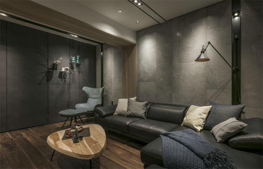 170平現代簡約風格三居室客廳沙發設計圖