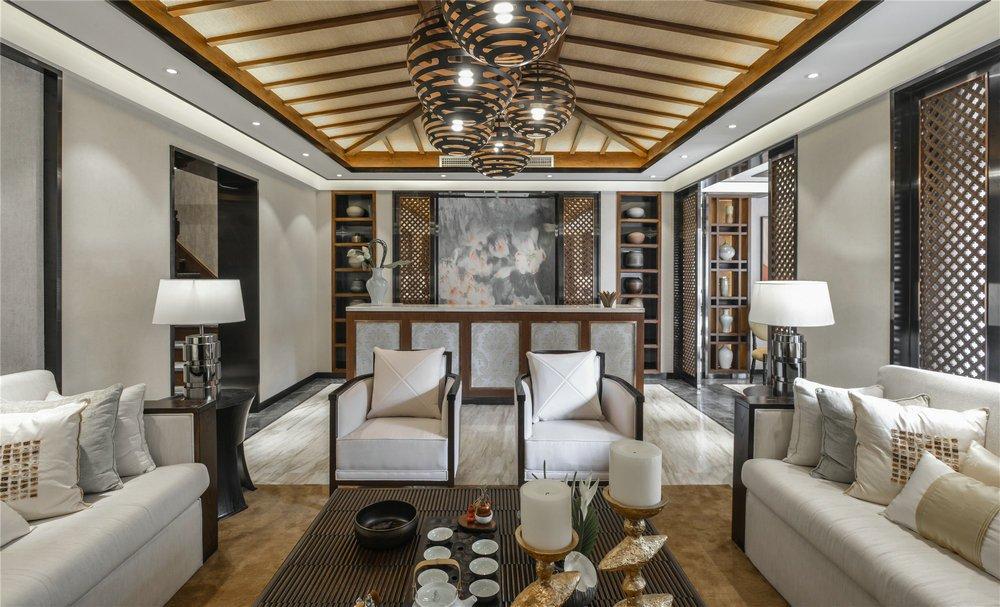 高端別墅室內吧臺裝修設計圖片