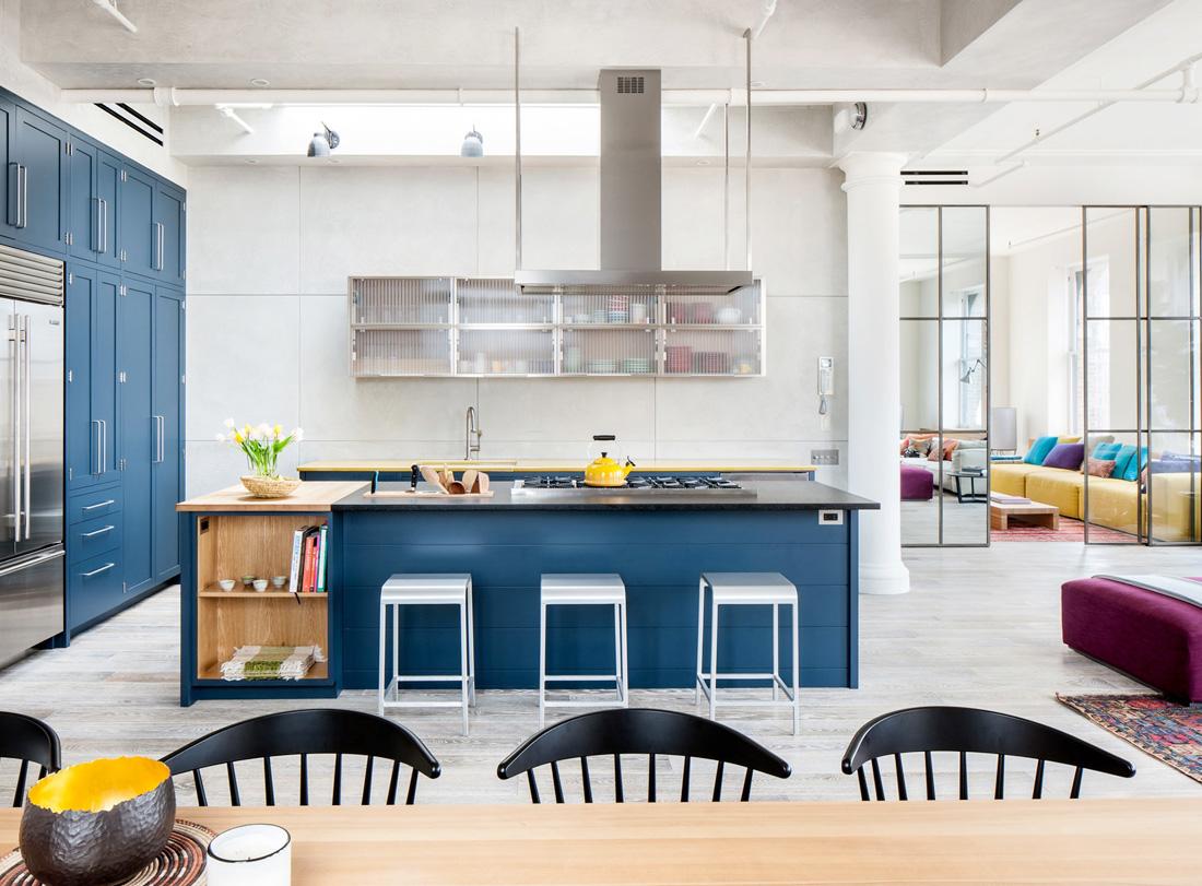 混搭別墅建筑開放式廚房裝修效果圖片