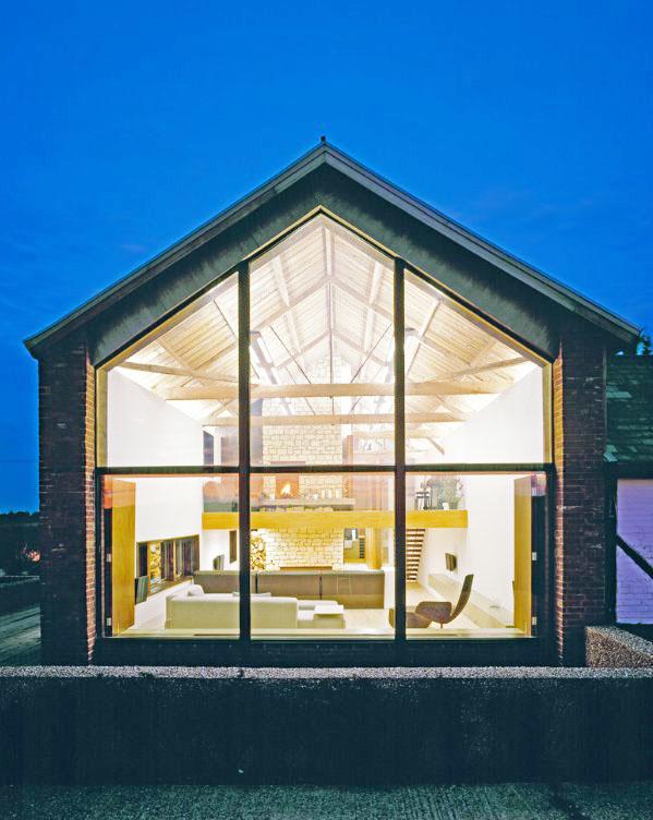 豪華別墅室內玻璃房子效果圖