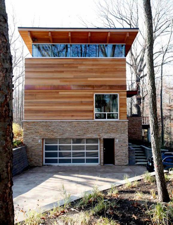 木制三層別墅外觀裝修圖片賞析