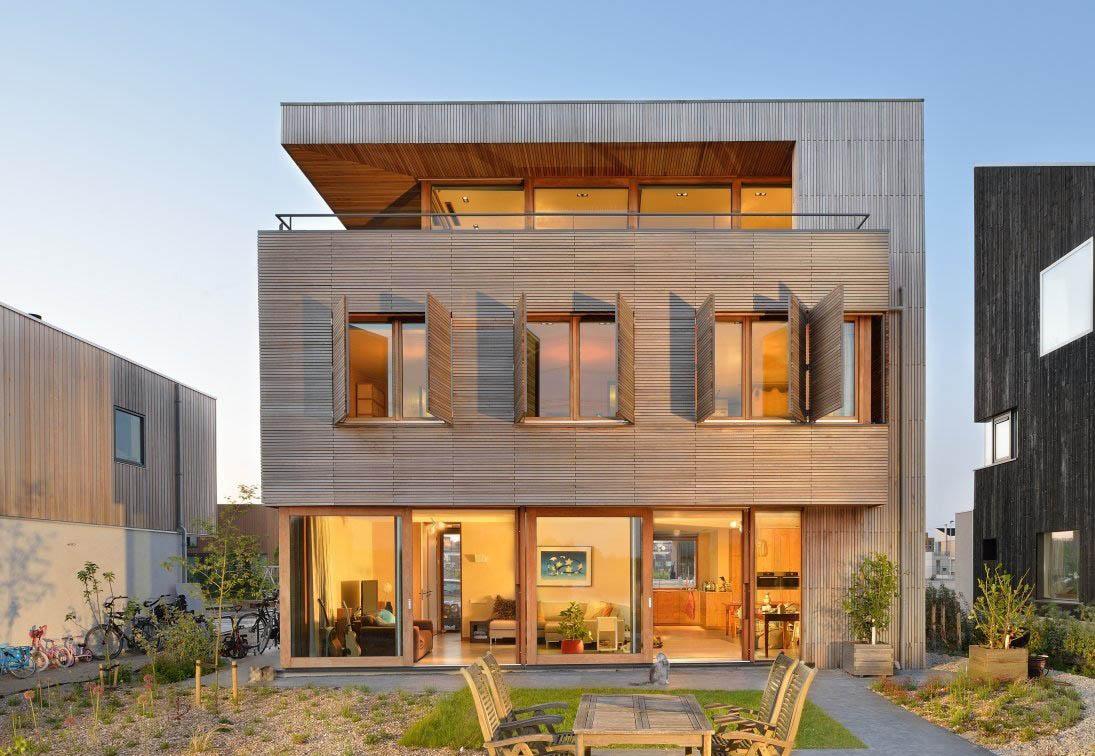 三層木制別墅外觀造型裝修圖片賞析