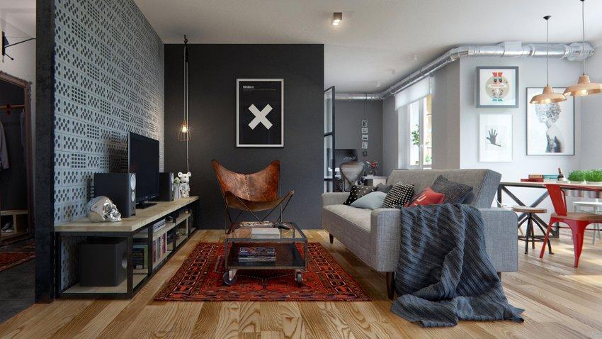 時尚歐式房間最流行影視墻裝飾效果圖