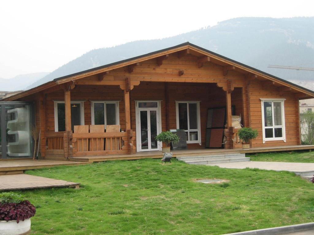 鄉村木制一層別墅外觀裝修設計圖