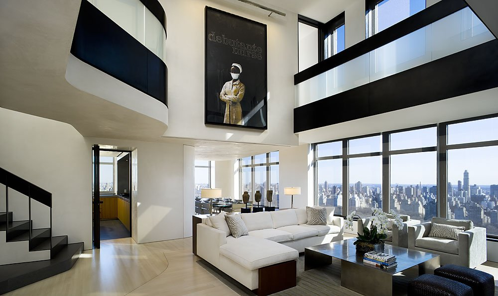 現代復式樓別墅一樓平面圖欣賞