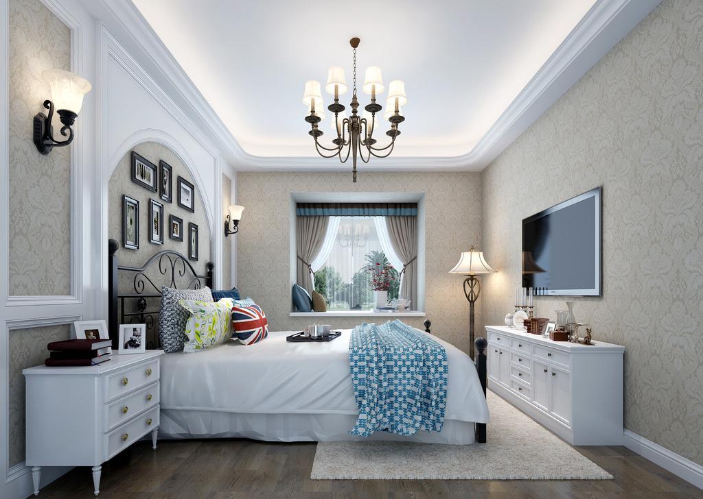 小型別墅臥室家具擺放圖片