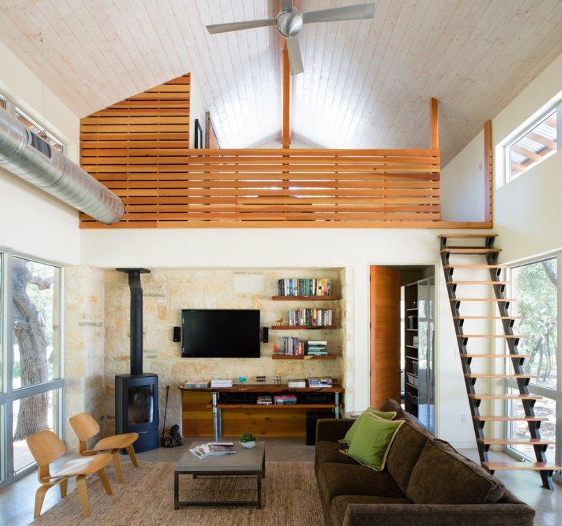 休閑木屋別墅小空間閣樓樓梯設計圖片