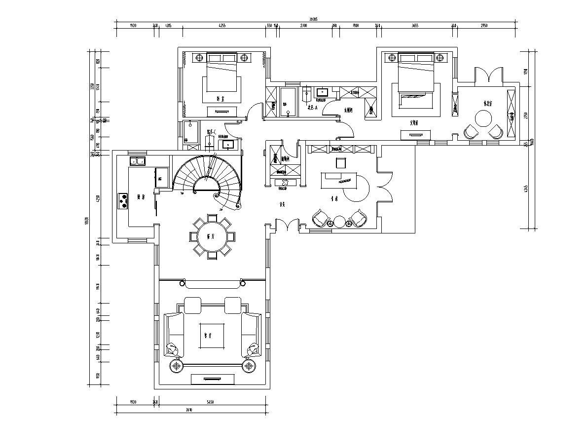 獨棟別墅戶型圖
