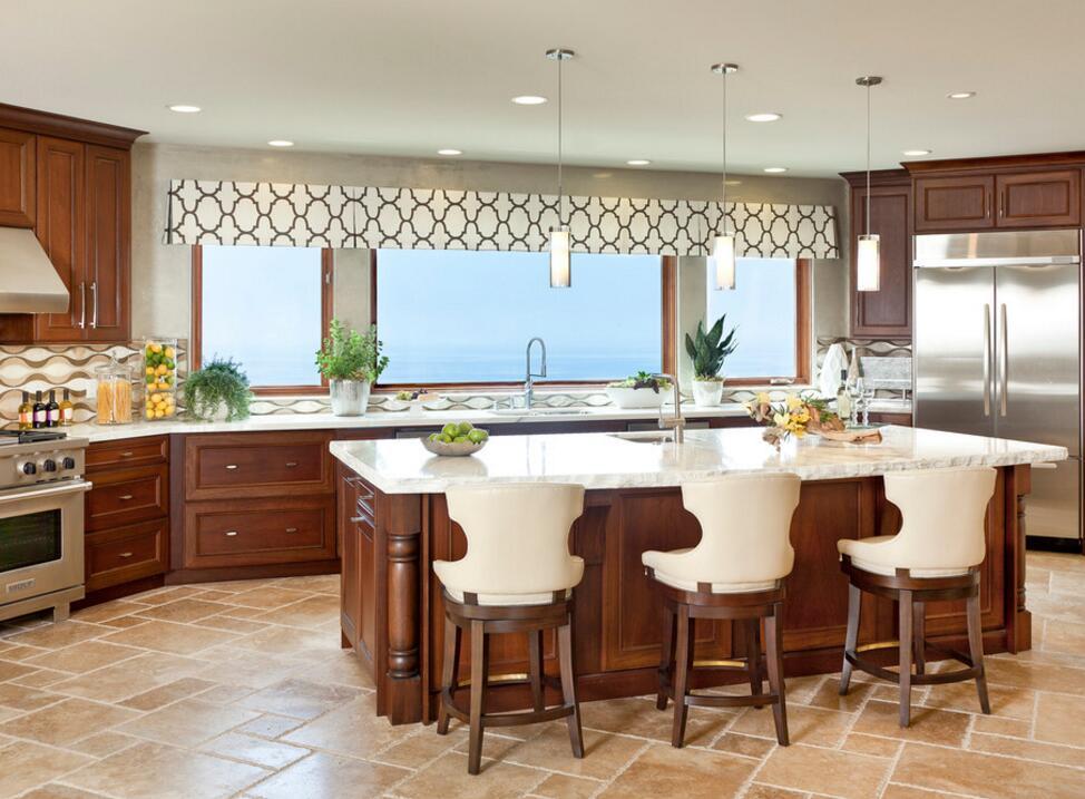 高級廚房吧臺設計效果圖