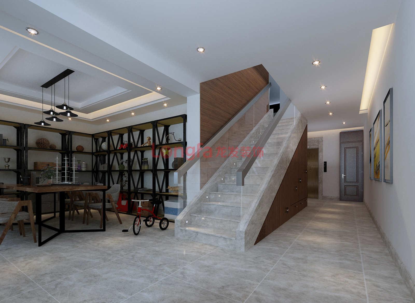 港式風格別墅地下室樓梯裝修效果圖