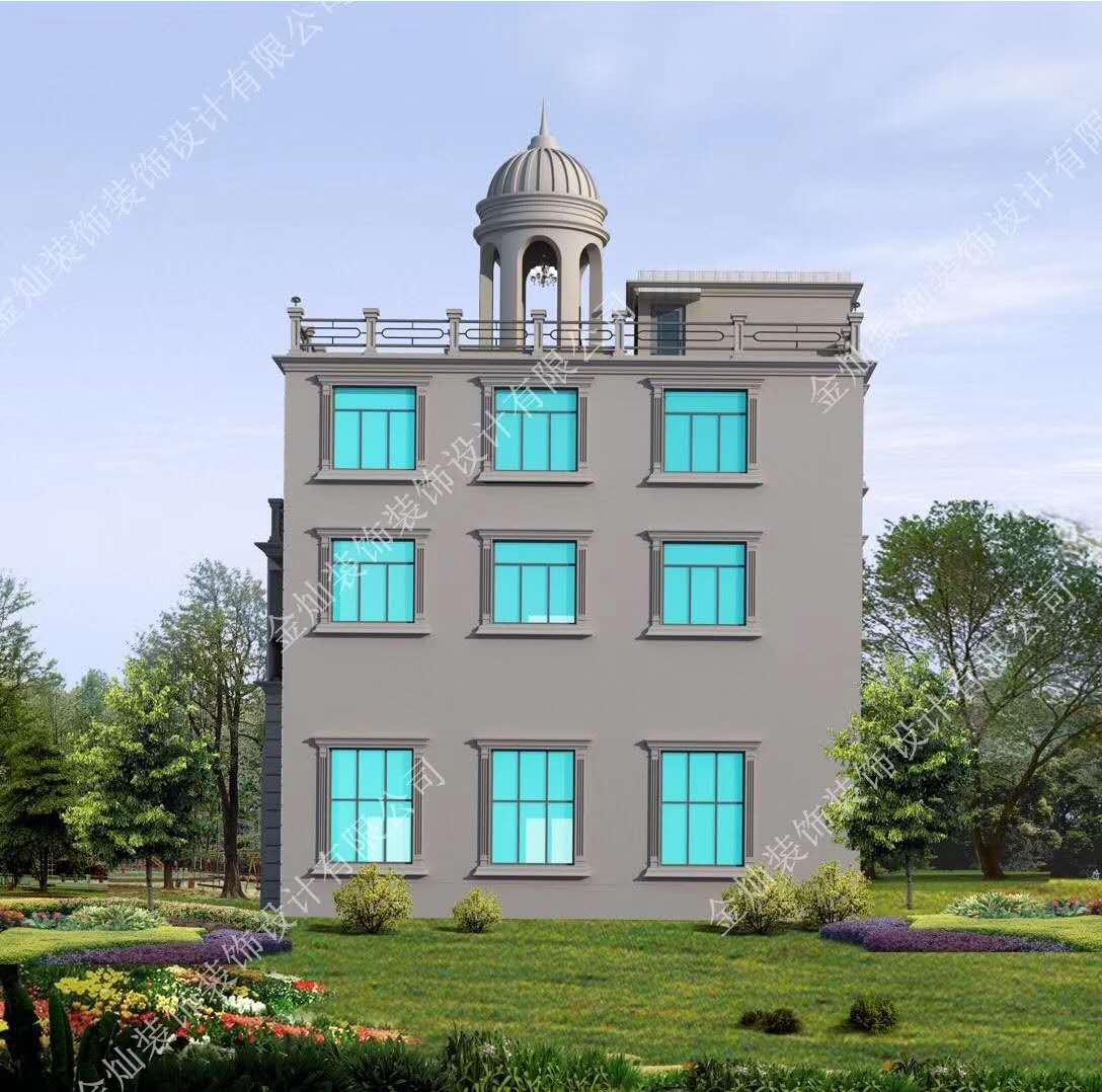 時尚大氣三層別墅外觀設計效果圖片