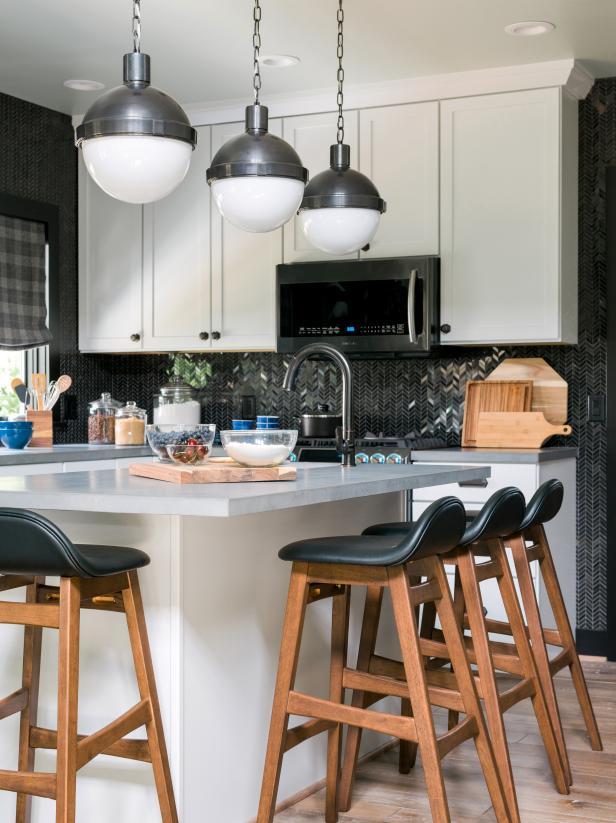 外國廚房空間吧臺設計圖片