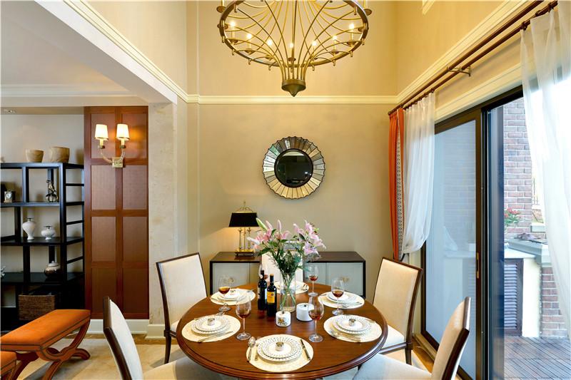 現代簡約風格三室餐廳裝修布置圖