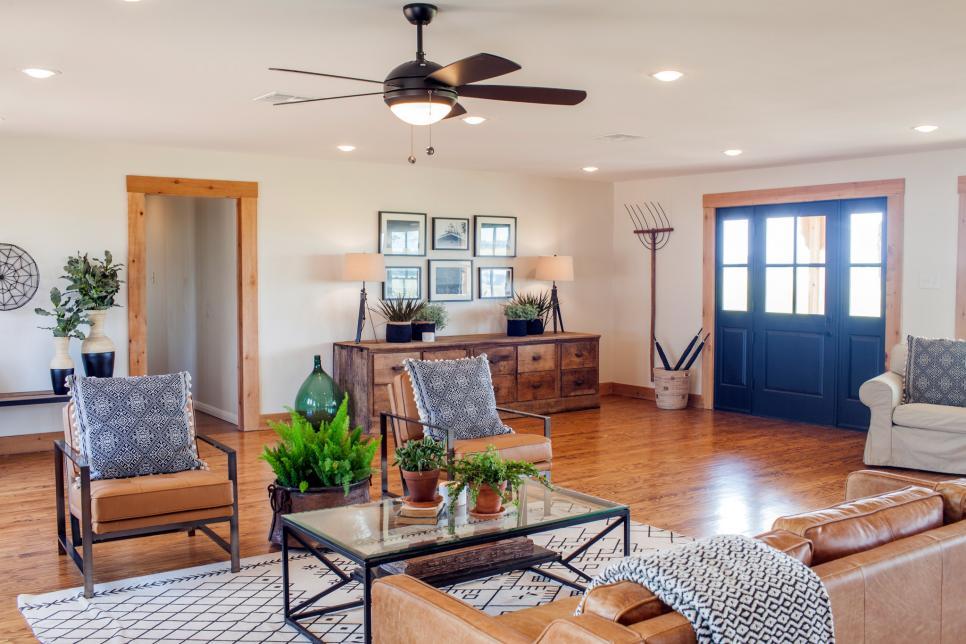 2019北美鄉村風格復式客廳茶幾設計圖片