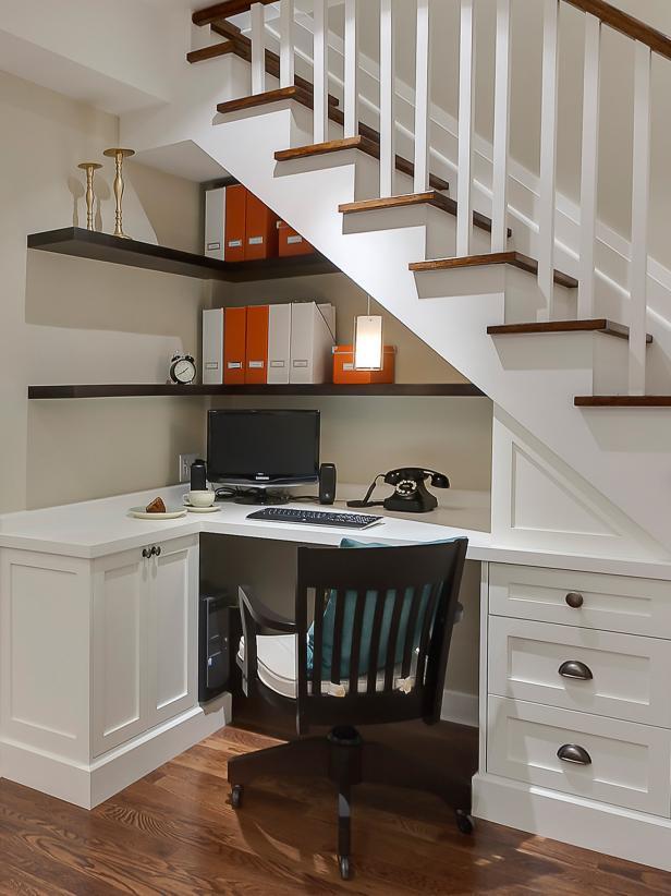 2019北歐風格復式樓梯間書房設計圖片