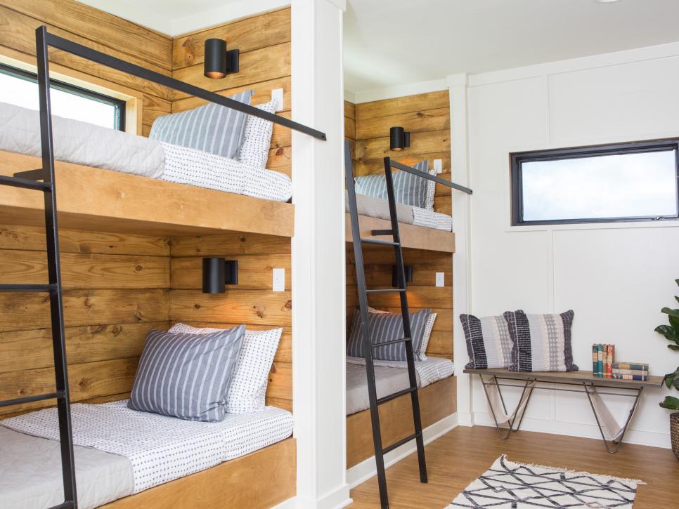 2019北歐風格溫馨兒童房間樓梯床圖片