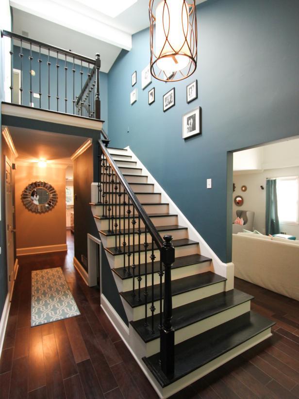2019國外農村小洋房室內樓梯間設計圖片