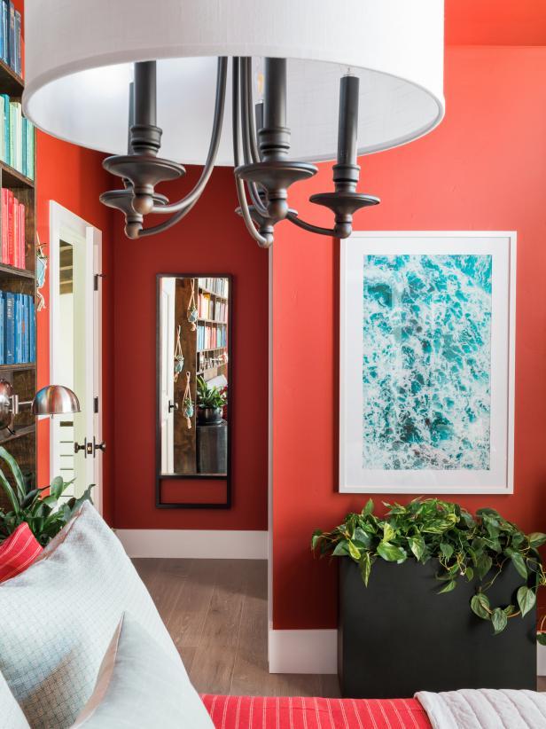 2019家裝臥室過道墻面鏡子設計圖片