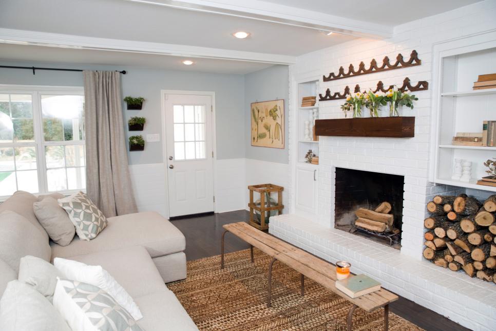 2019現代北歐國外家居客廳壁爐設計圖片