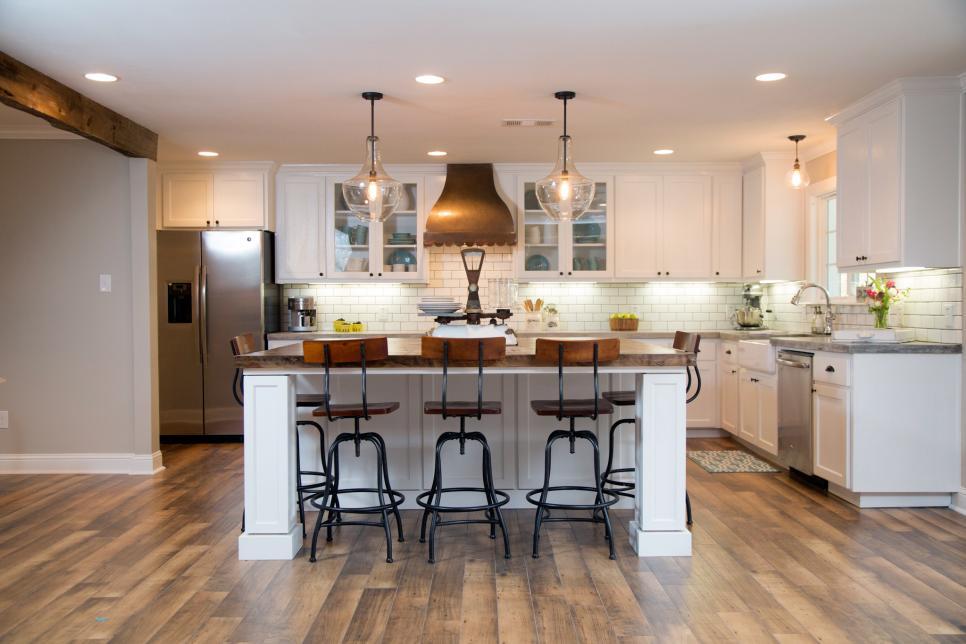 208簡歐別墅開放式白色廚房裝修設計圖片