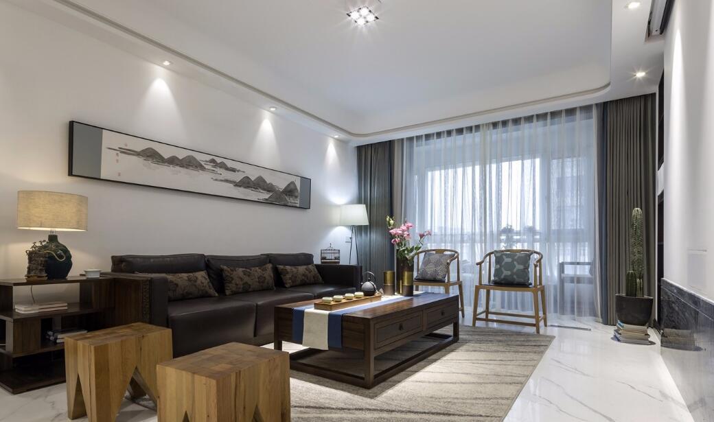 260平米大平層現代中式風格客廳裝修