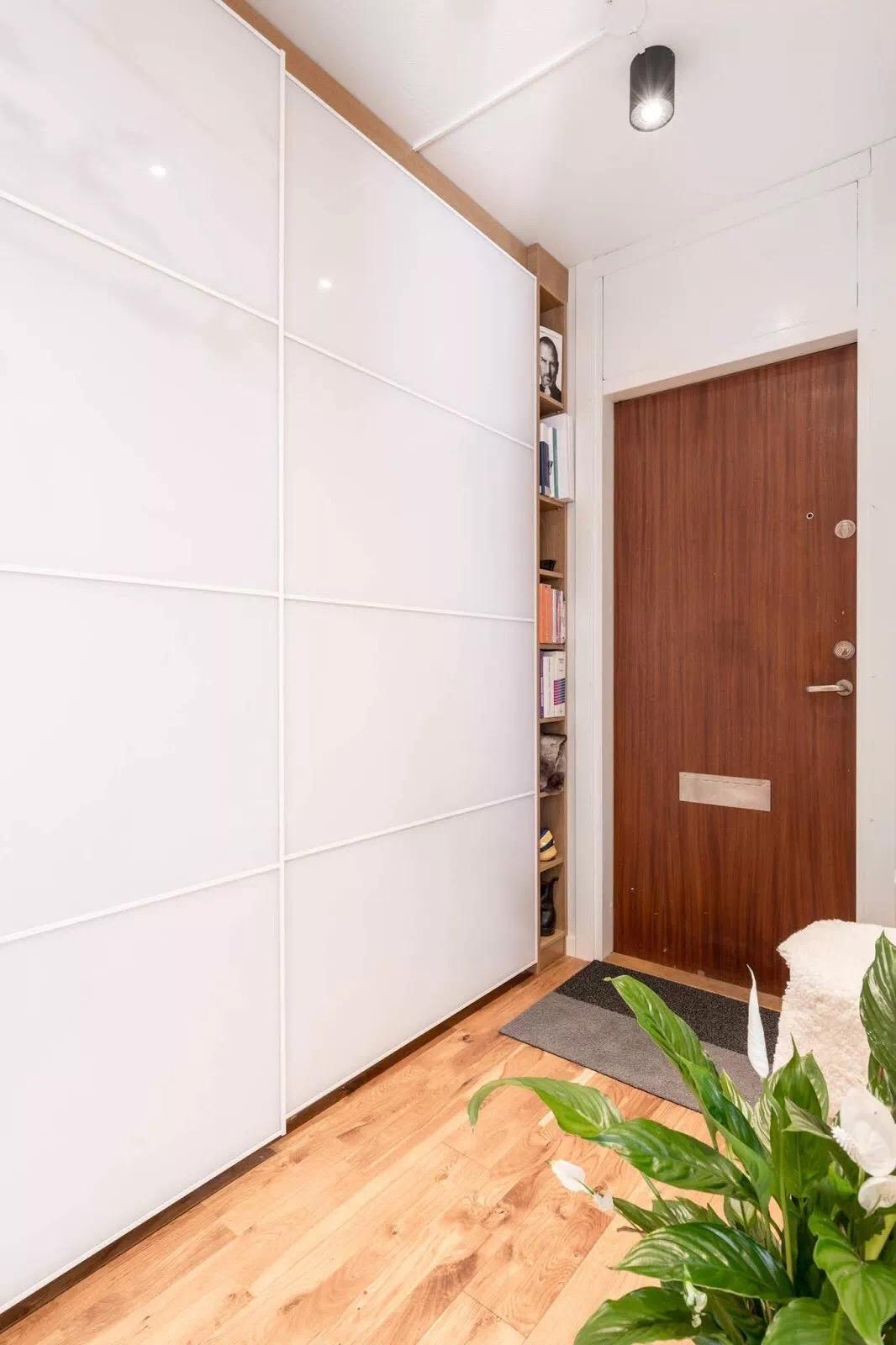 30平米北歐單身小公寓入戶門廳設計圖片