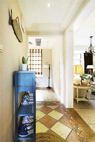 80平米三居室簡約美式風格過道裝修圖片