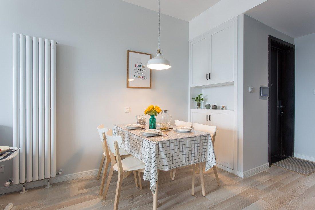 85平北歐風格小戶型飯廳裝修布置效果圖賞析