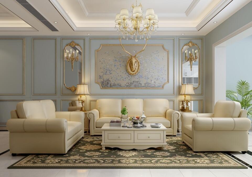 85平小戶型客廳背景墻造型裝修圖片一覽