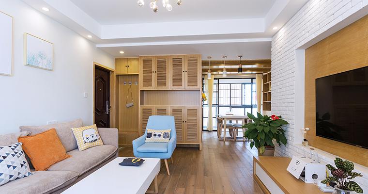 86平北歐兩居室客廳設計裝修圖片