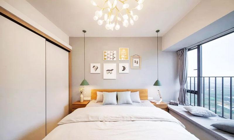 98平米小戶型臥室飄窗裝修裝飾效果圖