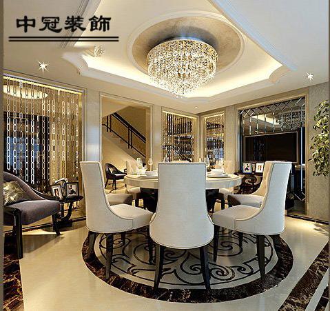 濱江花園280平米別墅歐式風格裝修餐廳效果圖
