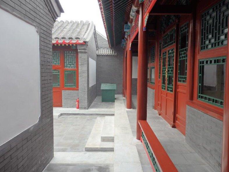 北京四合院別墅背景墻磚圖片