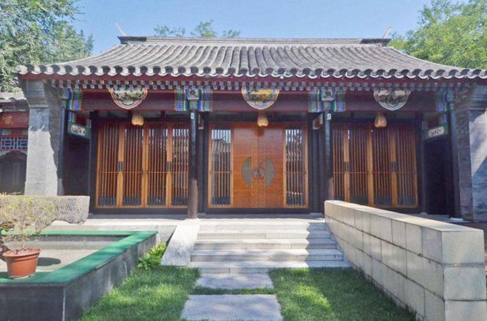 北京四合院別墅大門設計圖片