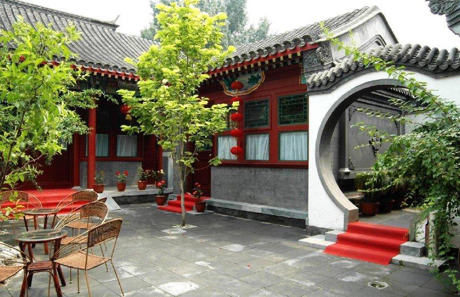 北京四合院別墅地面磚圖片