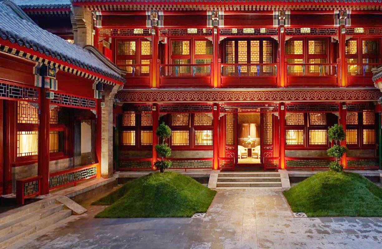 北京四合院別墅豪華裝修效果圖片