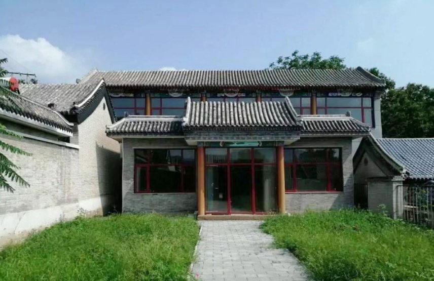 北京四合院別墅門口設計圖片
