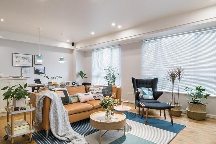 北歐風格130平方米三居室客廳沙發家裝圖片