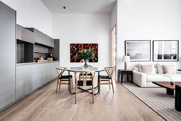 北歐風格82平米公寓餐廳裝修圖片