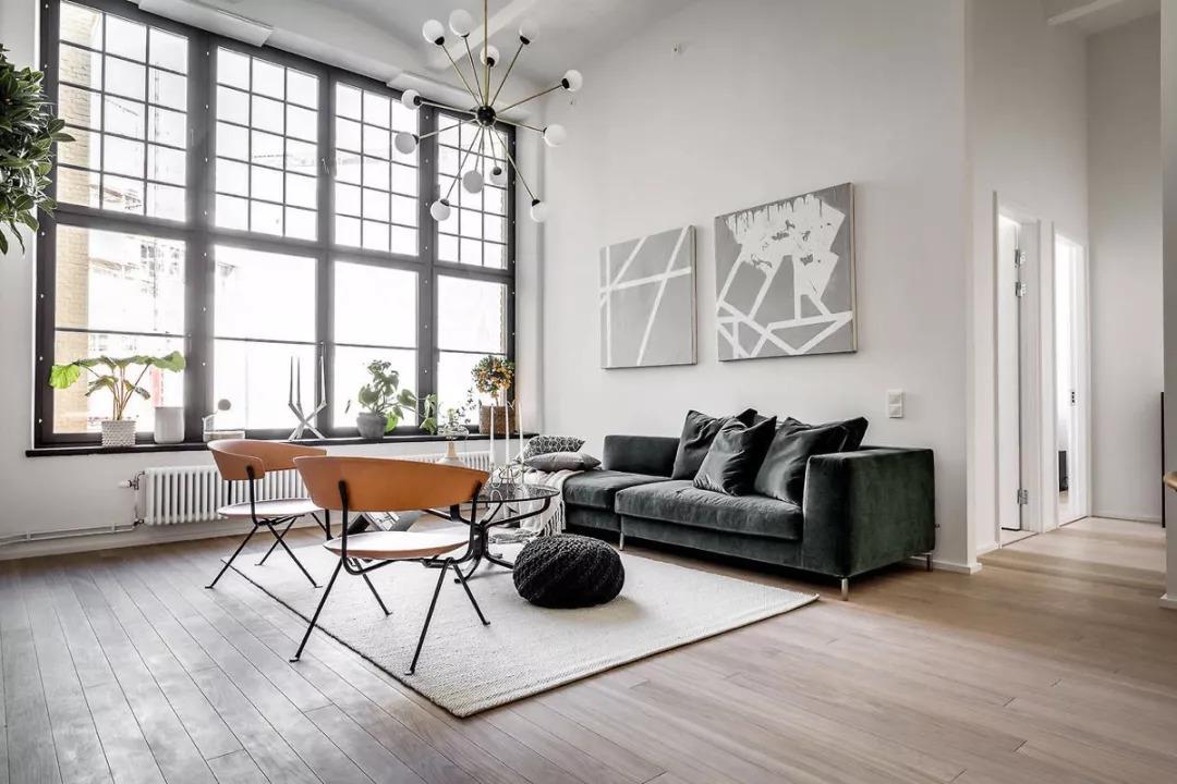 北歐風格98平米三居室客廳沙發背景墻裝修圖片